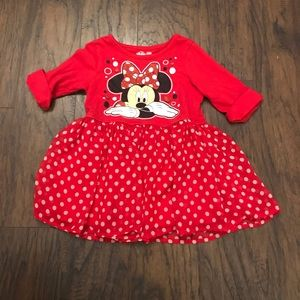 Disney Minnie Mouse Red Girls Shirt Top Size 5T